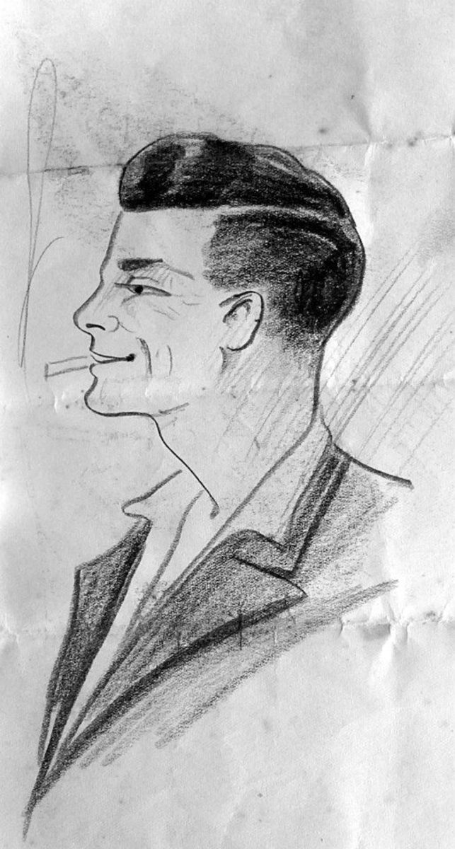 This was a sketch of grandad drawn by one of his pals during the Second World War