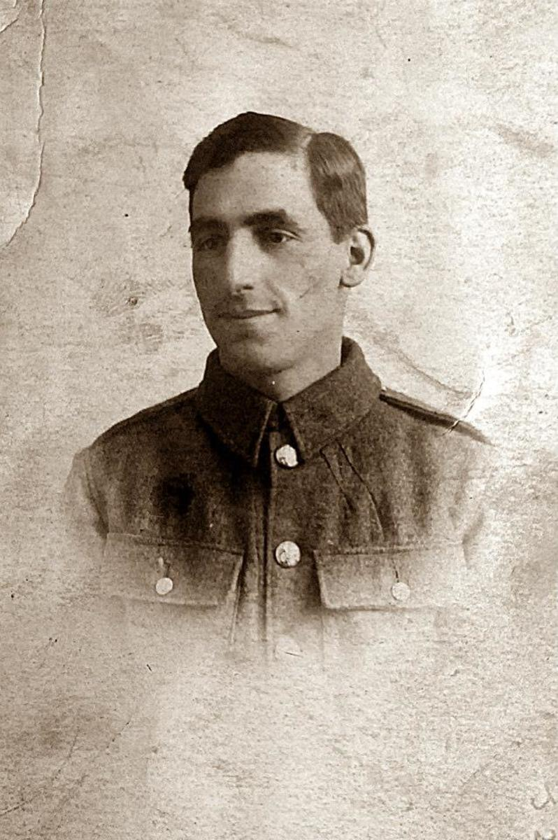 Grandad's older brother Arthur in his army uniform during World War One