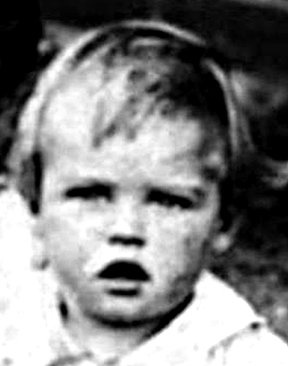 Mum's younger brother Kenneth as a baby
