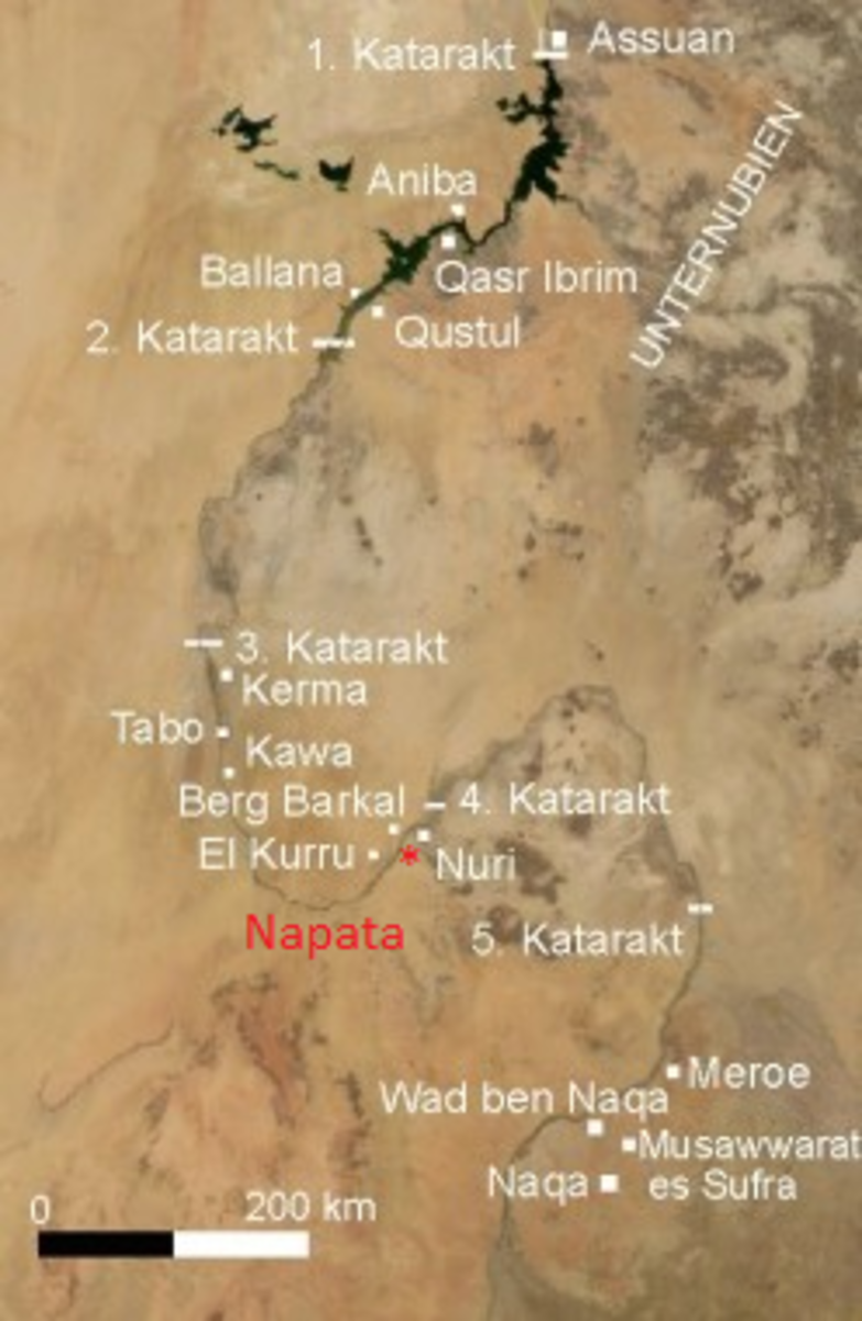 12th Dynasty Egypt controlled to 2nd Katarakt - 18th Dynasty Egypt controlled to 4th Katarakt