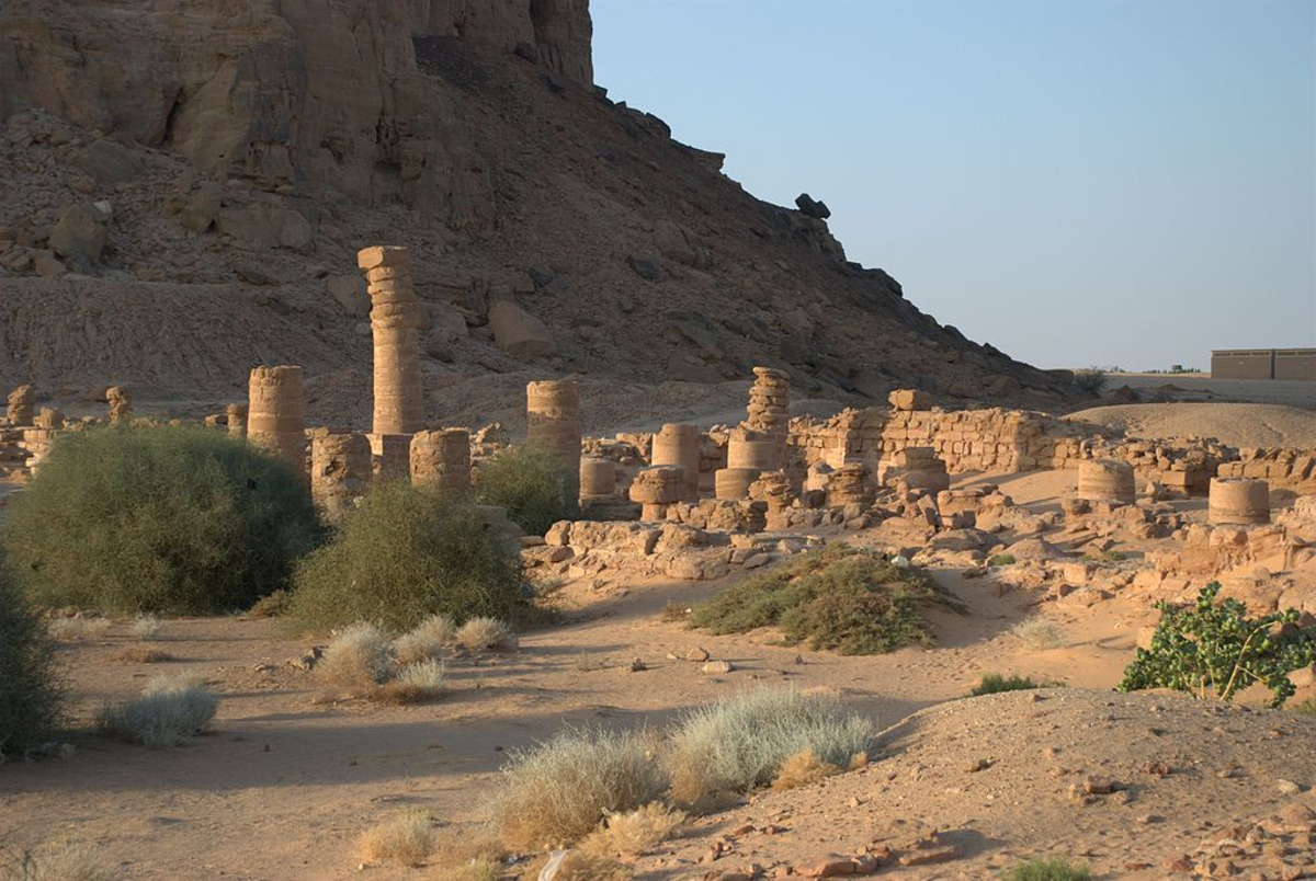 Remains of the Temple of Amun at Jebel Barkal