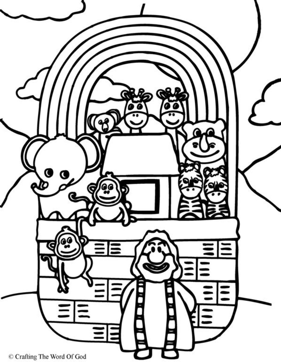 Noahs Ark- Coloring Page