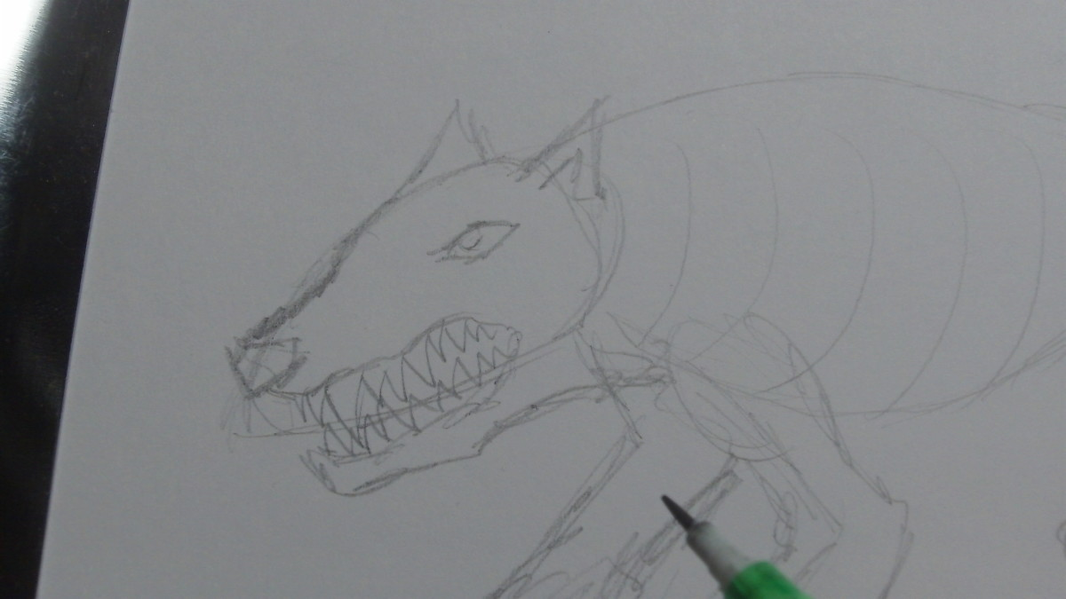 Drawing in some sharp teeth.