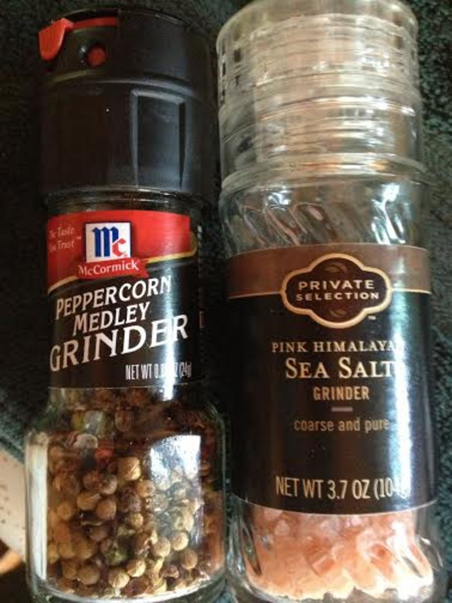 Salt and pepper are the only seasonings in the breading. The fresher ground, the better.