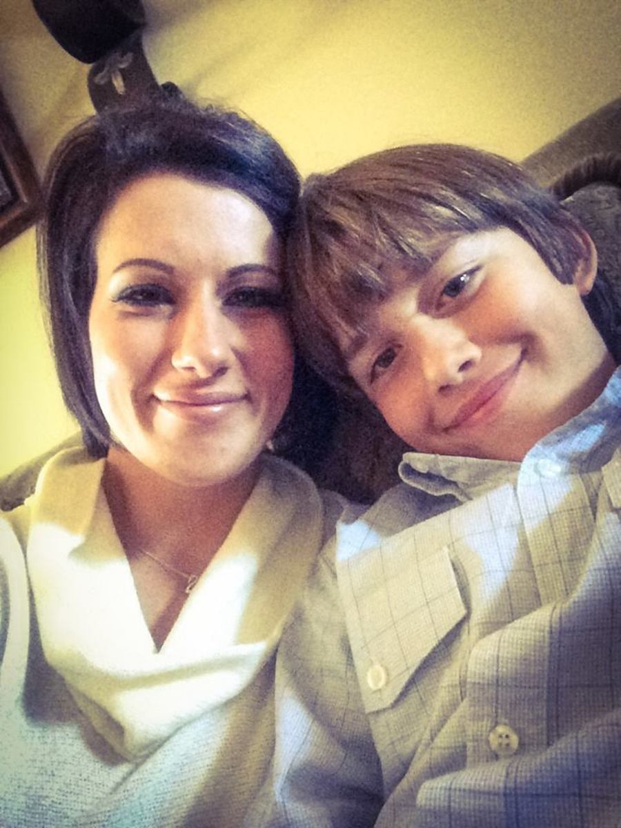 Heather and her older son!