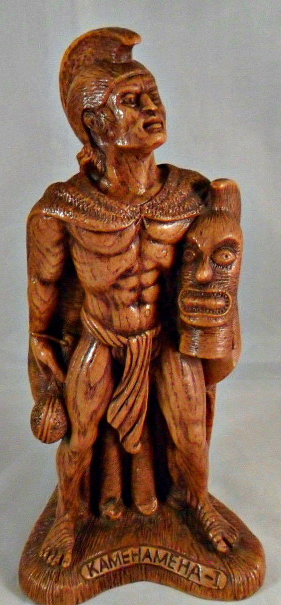 Here is the Coco Joe's Hawaiian King Kamehameha-I  Figurine # HW 134 /  in Hapa Wood , he stands 8 inches tall, and is very well made.