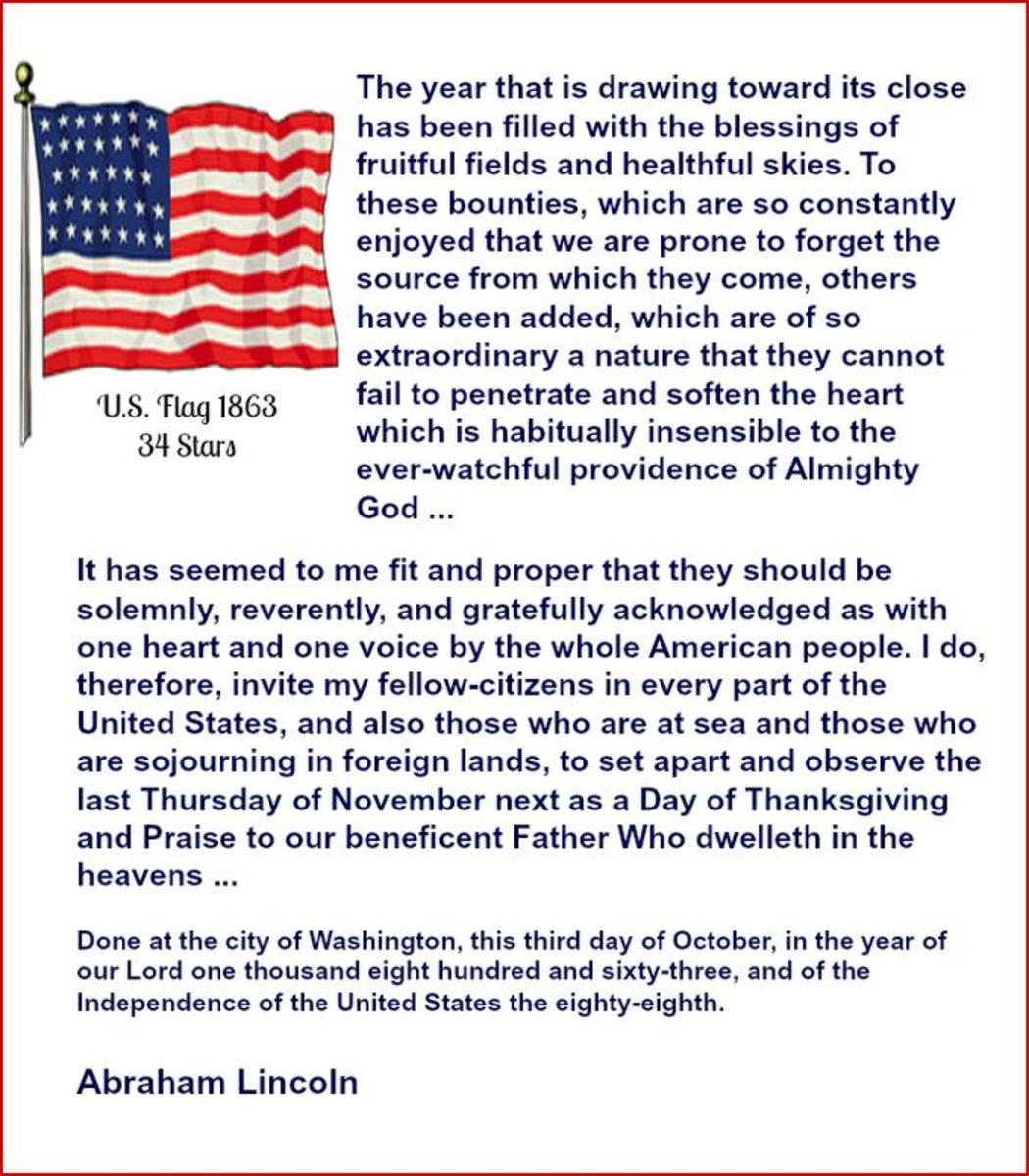 Thanksgiving Proclamation by Abraham Lincoln in 1863