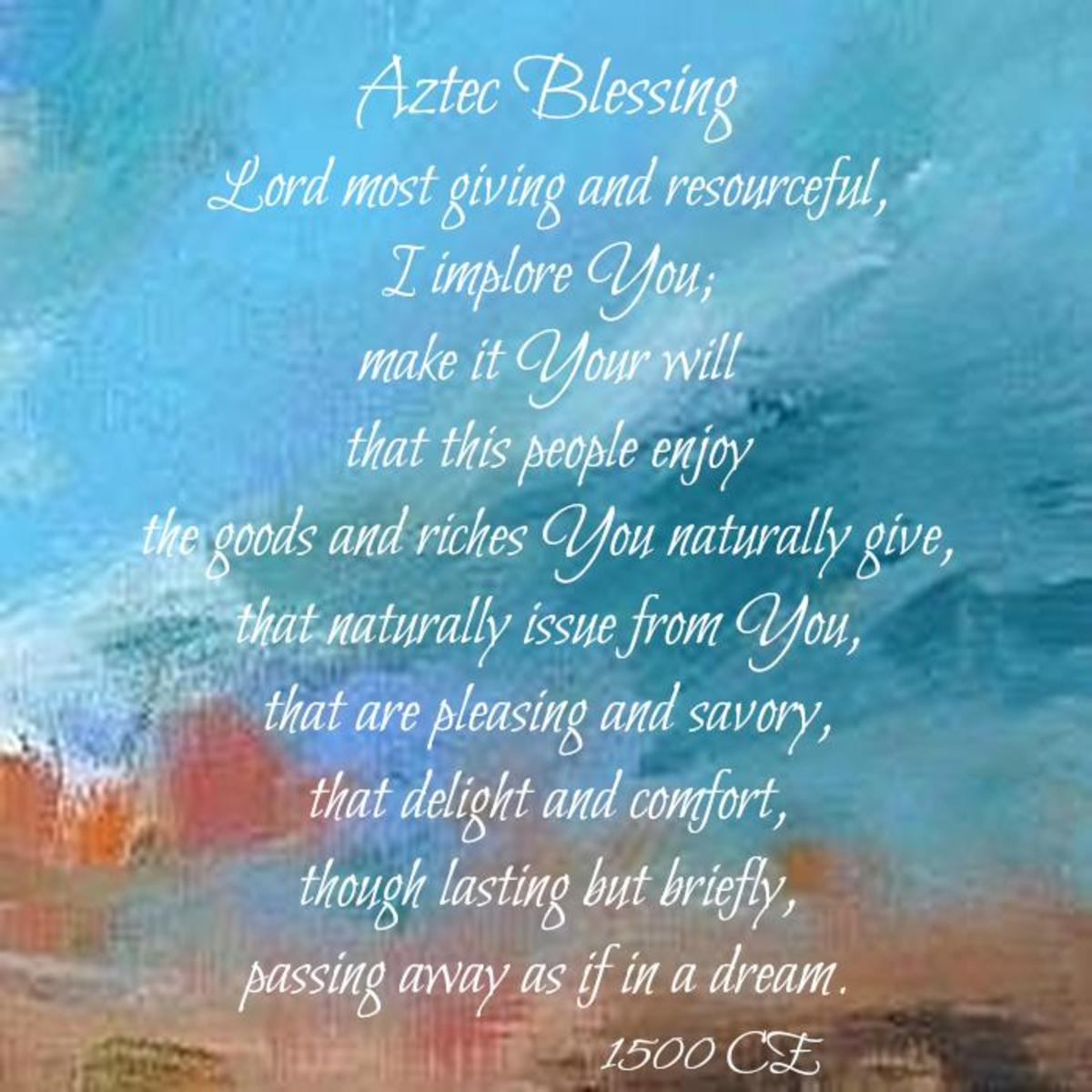 Aztec Blessing of Gratitude