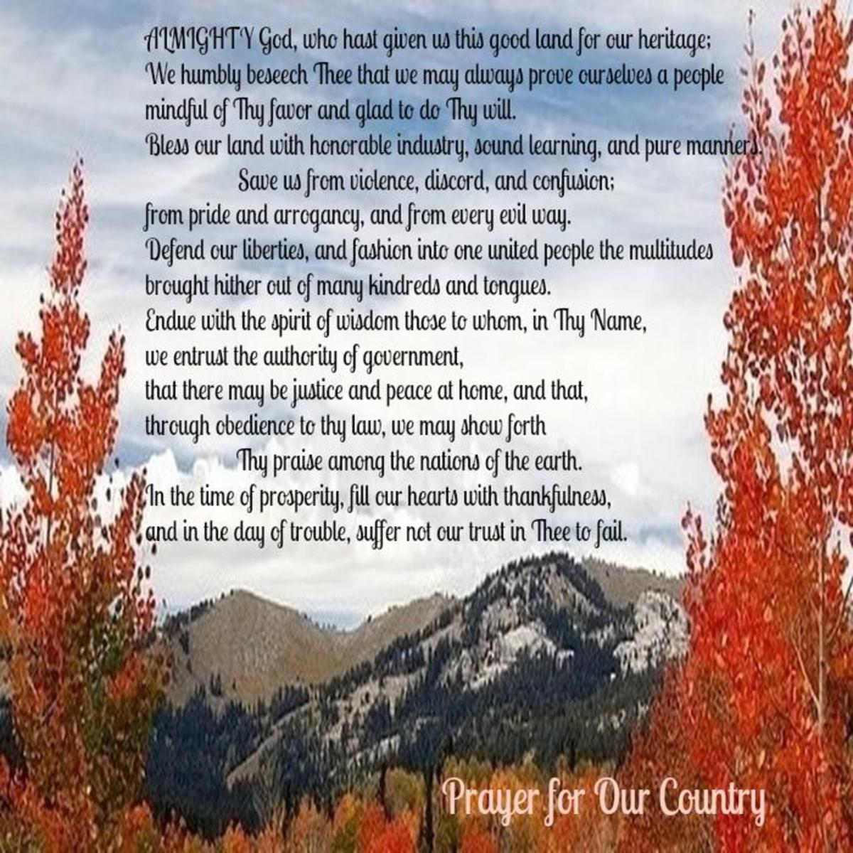 Thanksgiving Prayer for Our Country
