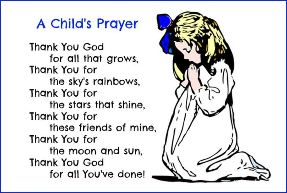 A Child's Prayer of Thanks