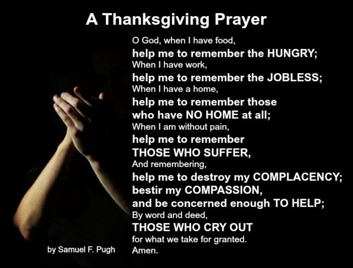 A Thanksgiving Prayer by Samuel F. Pugh
