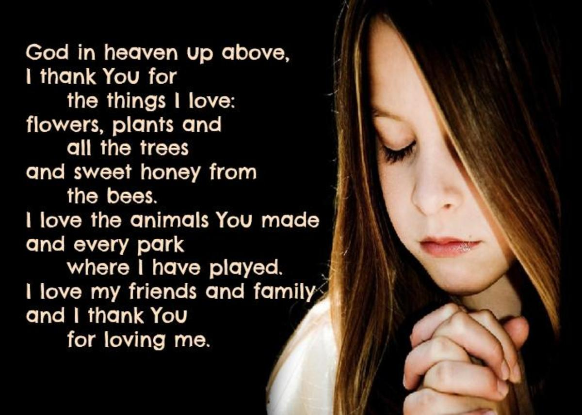 Thanksgiving Prayer for Kids