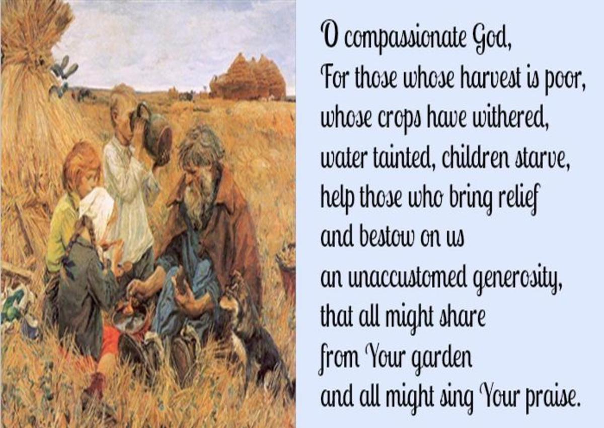 Prayer from the British Harvest Festival
