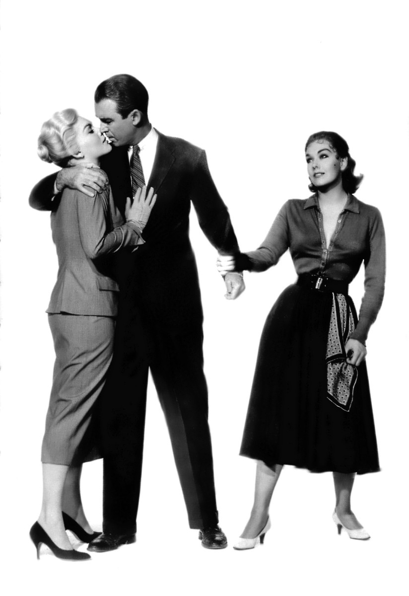 The three characters crucial to the plot: Madeleine, Scottie and Judy.