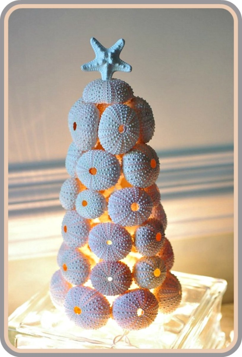 How to Make Seashell Christmas Tree Topiaries | HubPages