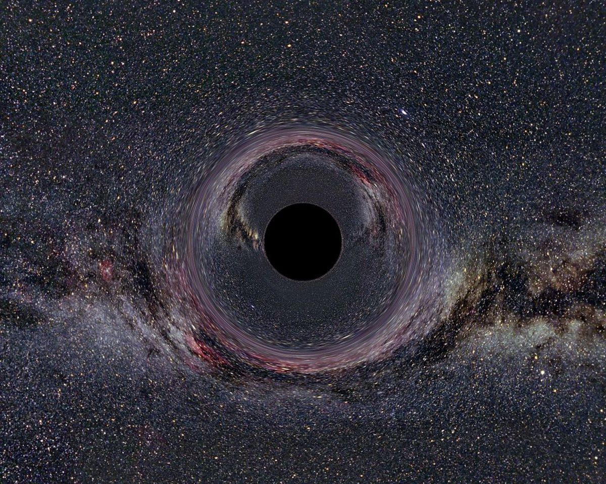 An Artist's Rendition of a Black Hole