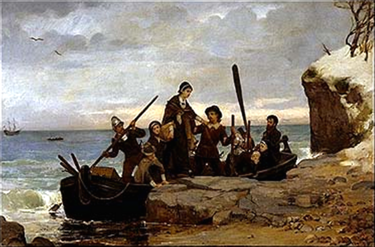 The Landing of the Pilgrims by Henry Bacon