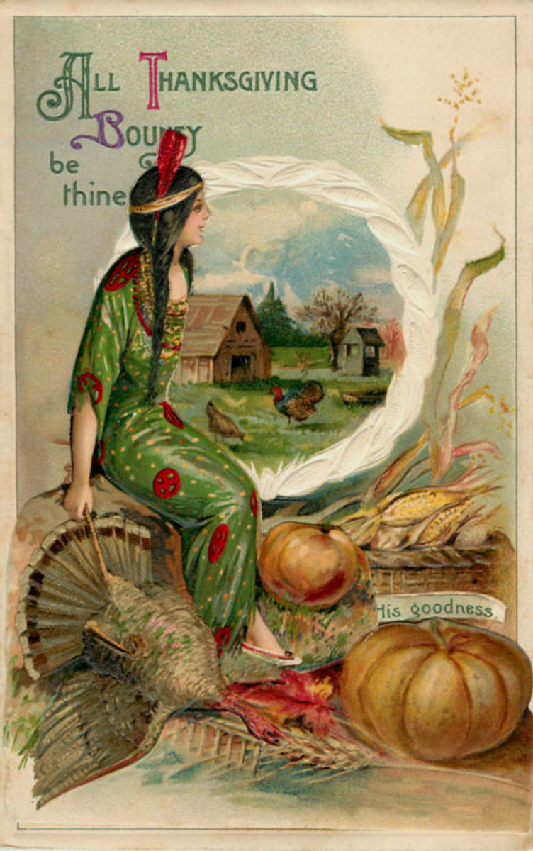Vintage Thanksgiving card.