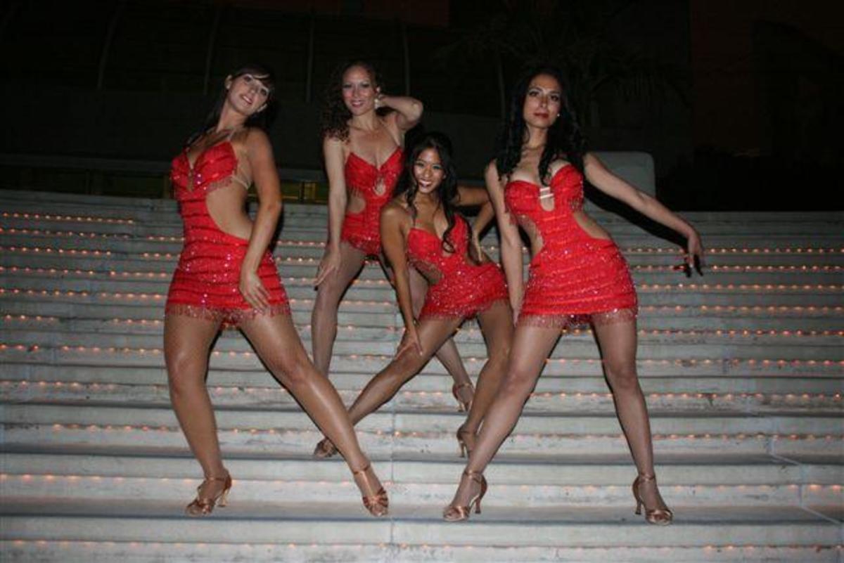 Ladies salsa dance team