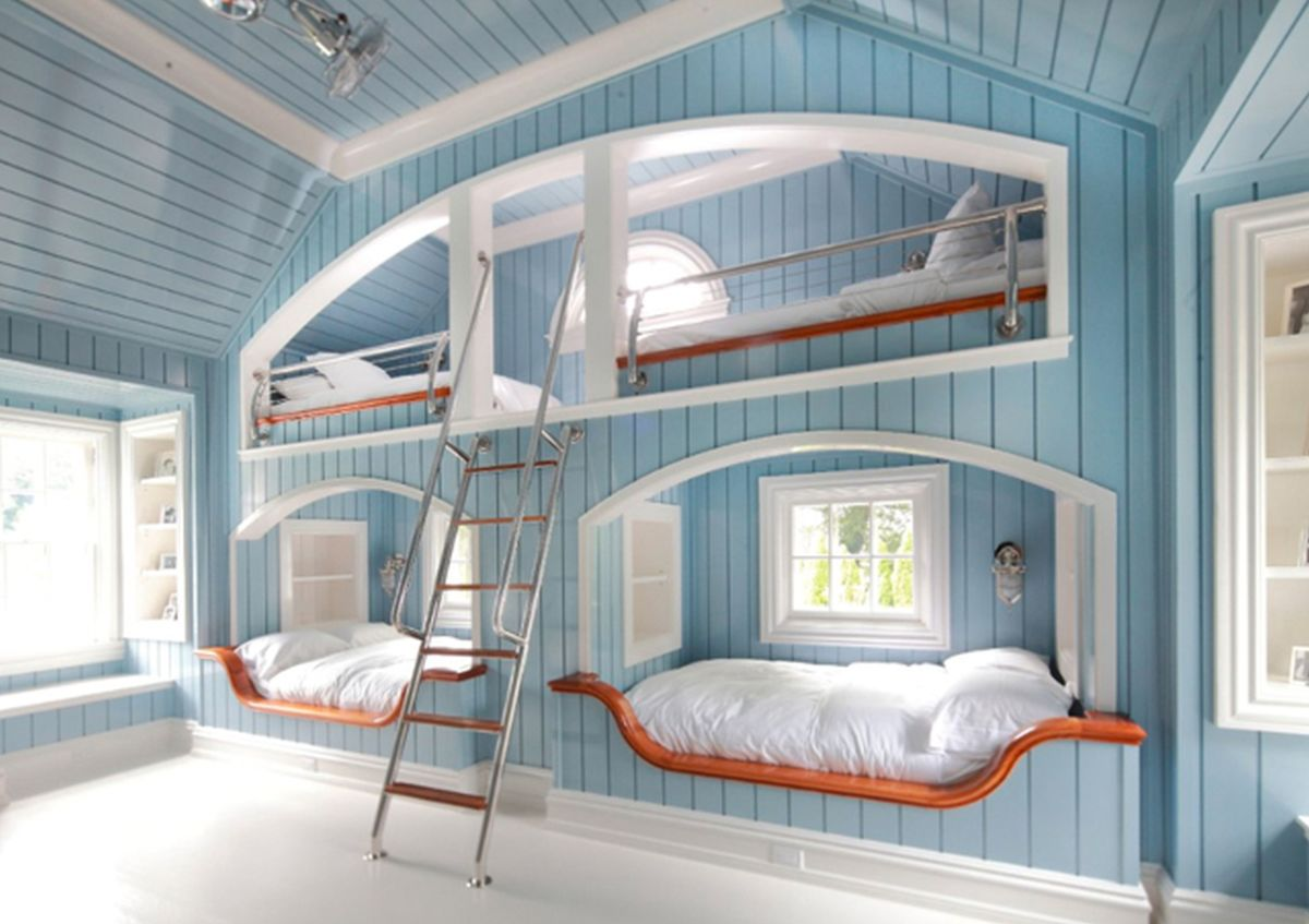 If you have a large family a custom built quad bunk bed might be worth the money considering the alternative of purchasing a larger home with more bedrooms.