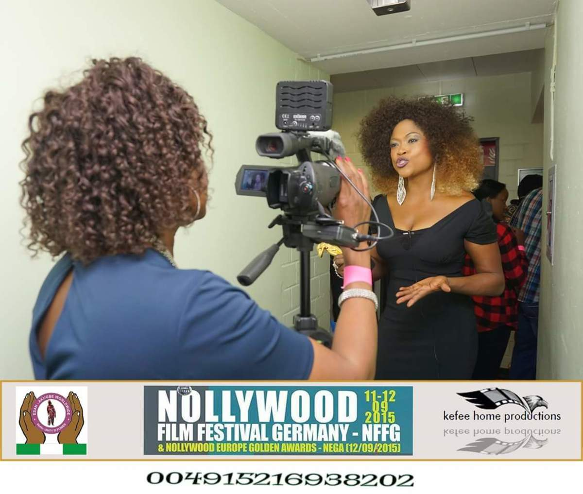 One of Queen Blessing's goals is to establish her own TV show here in the United States and have it broadcast to her native Nigeria, and Internationally.