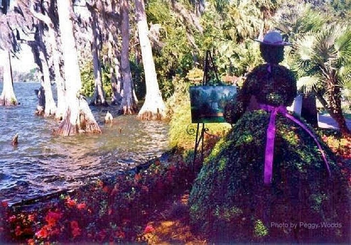En Plein Air Topiary at Cypress Gardens
