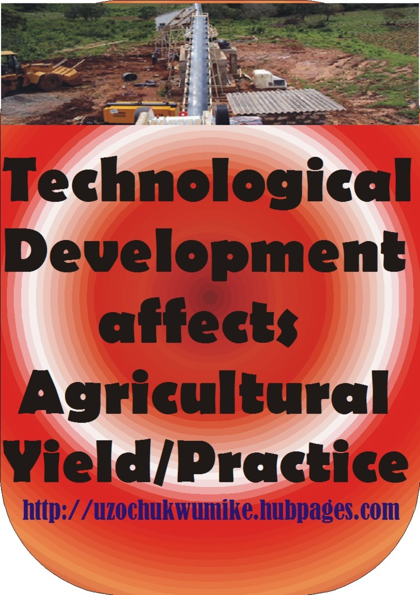 The negative impact of technology on agricultural practice. Technology has affected agricultural yield in one way or the other.
