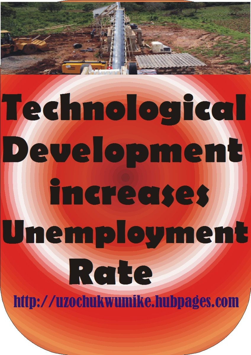 How technological advancement/development has added to the world unemployment level. Technological development has resulted to increase in unemployment level.