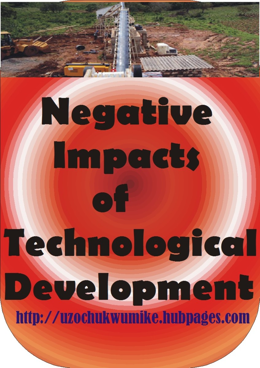 The negative impacts of technological development. The bad sides of technology.