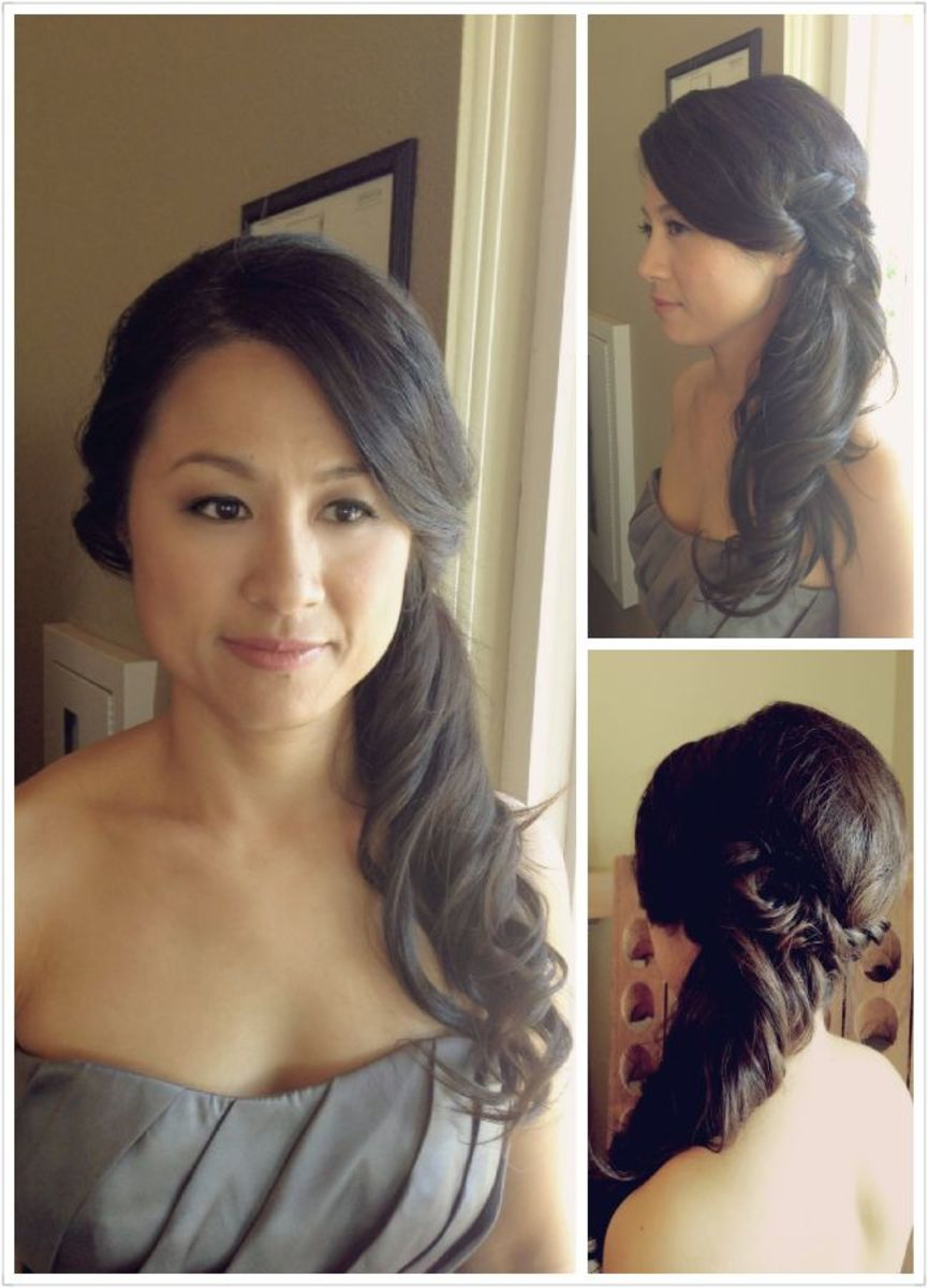 medium hair ponytail styles trubridal wedding hairstyles for medium length hair 1311
