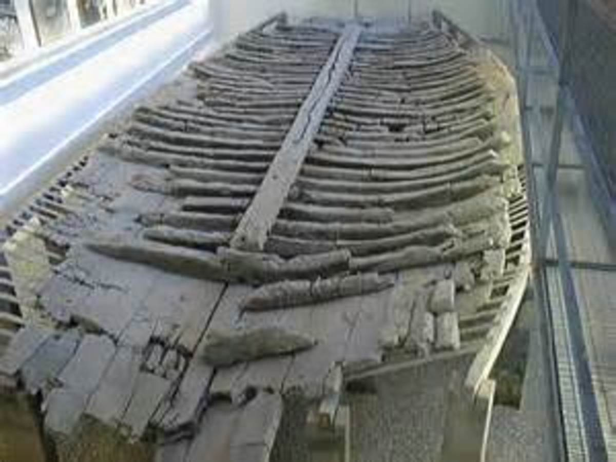 remains of Roman boat