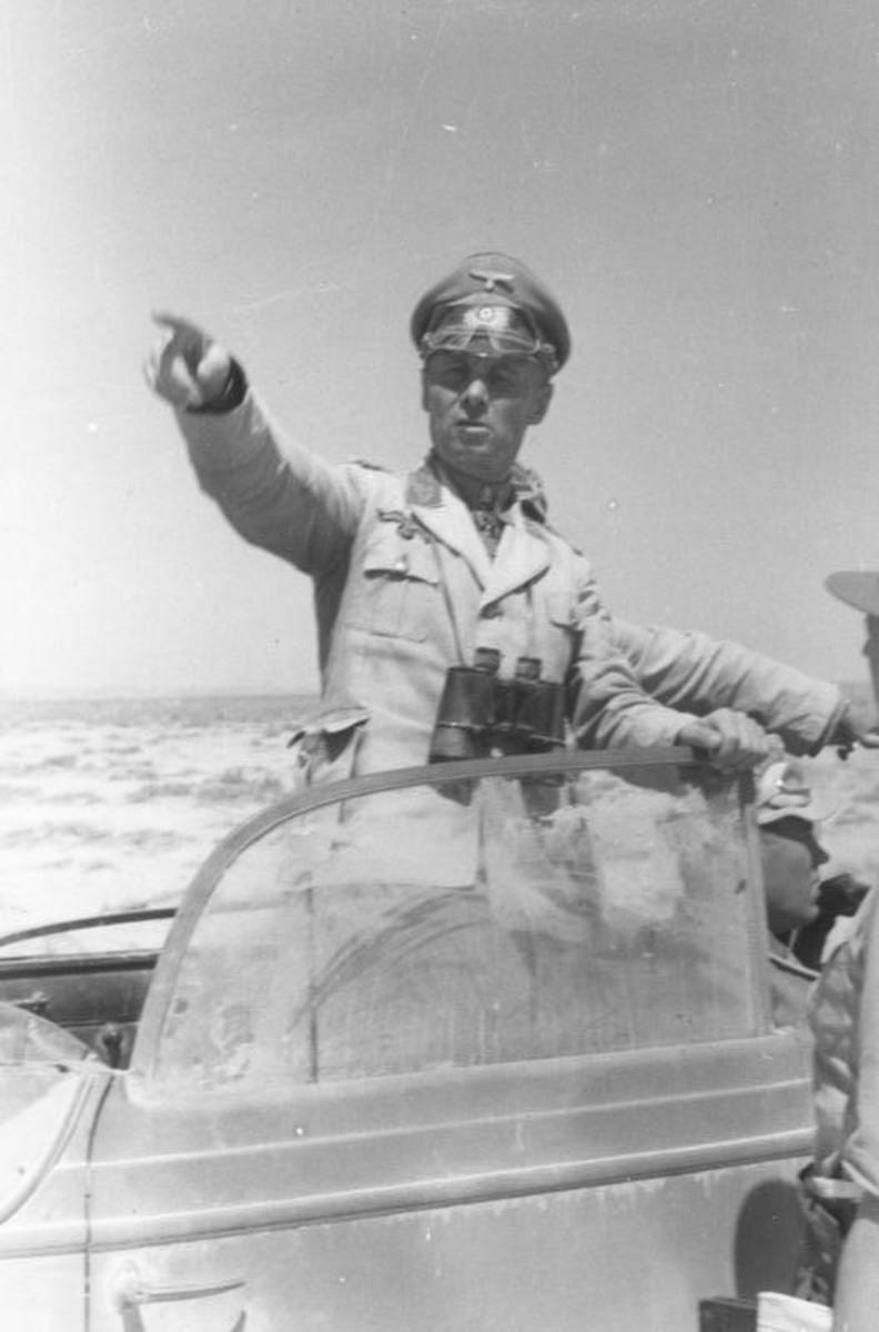 Erwin Rommel, west of Tobruk