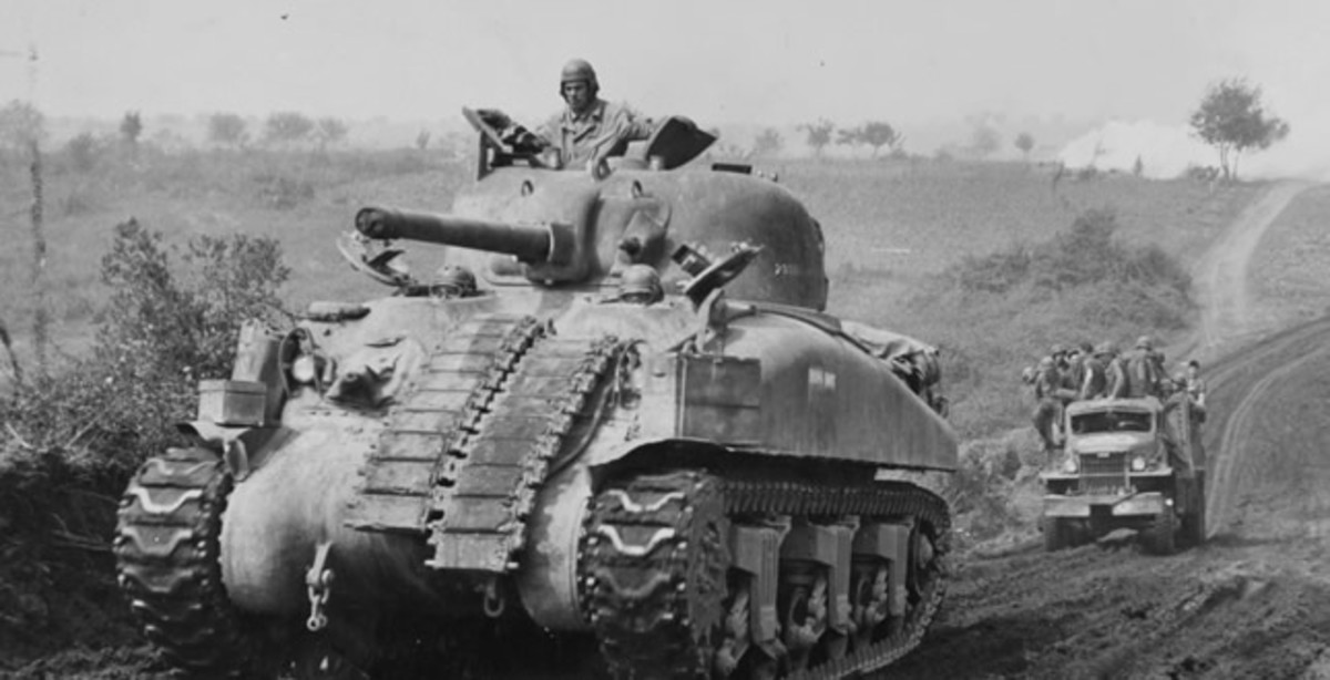 An Allied Sherman Tank