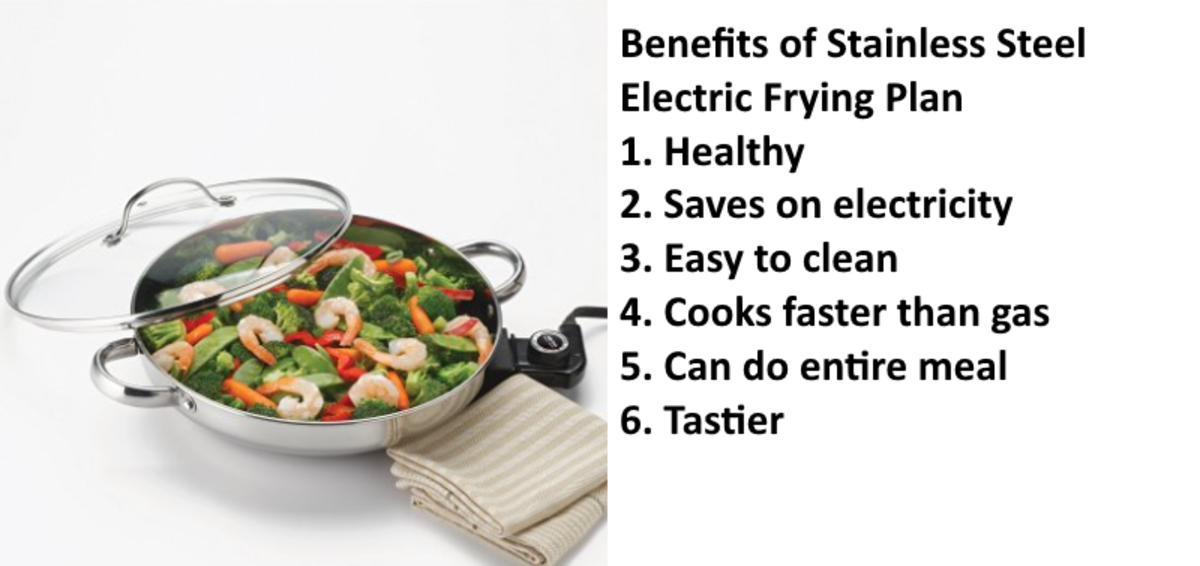 If you are a lazy cook (I am), this is it. I have used this on three continents - Africa, the EU, and the States. Love stainless steel electric frying pans!
