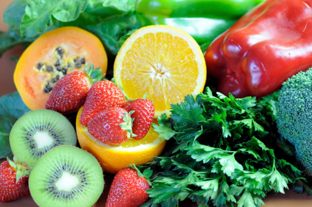 Healthy Foods- Fresh fruits and veggies everyday- keeps the DOCTOR AWAY !