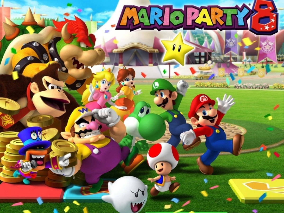 Characters from Mario Party 8. Nice that you invited Bowser, despite him kidnapping your girlfriend. A+ there, Mario.