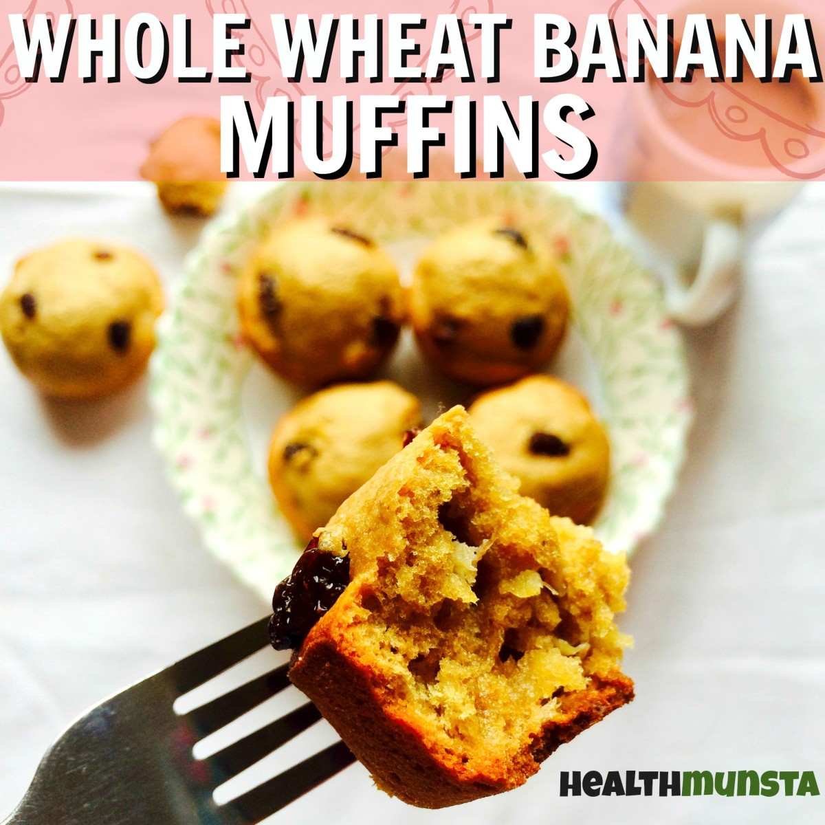 Totally healthy whole wheat banana muffins that taste OH-SO-GOOD!