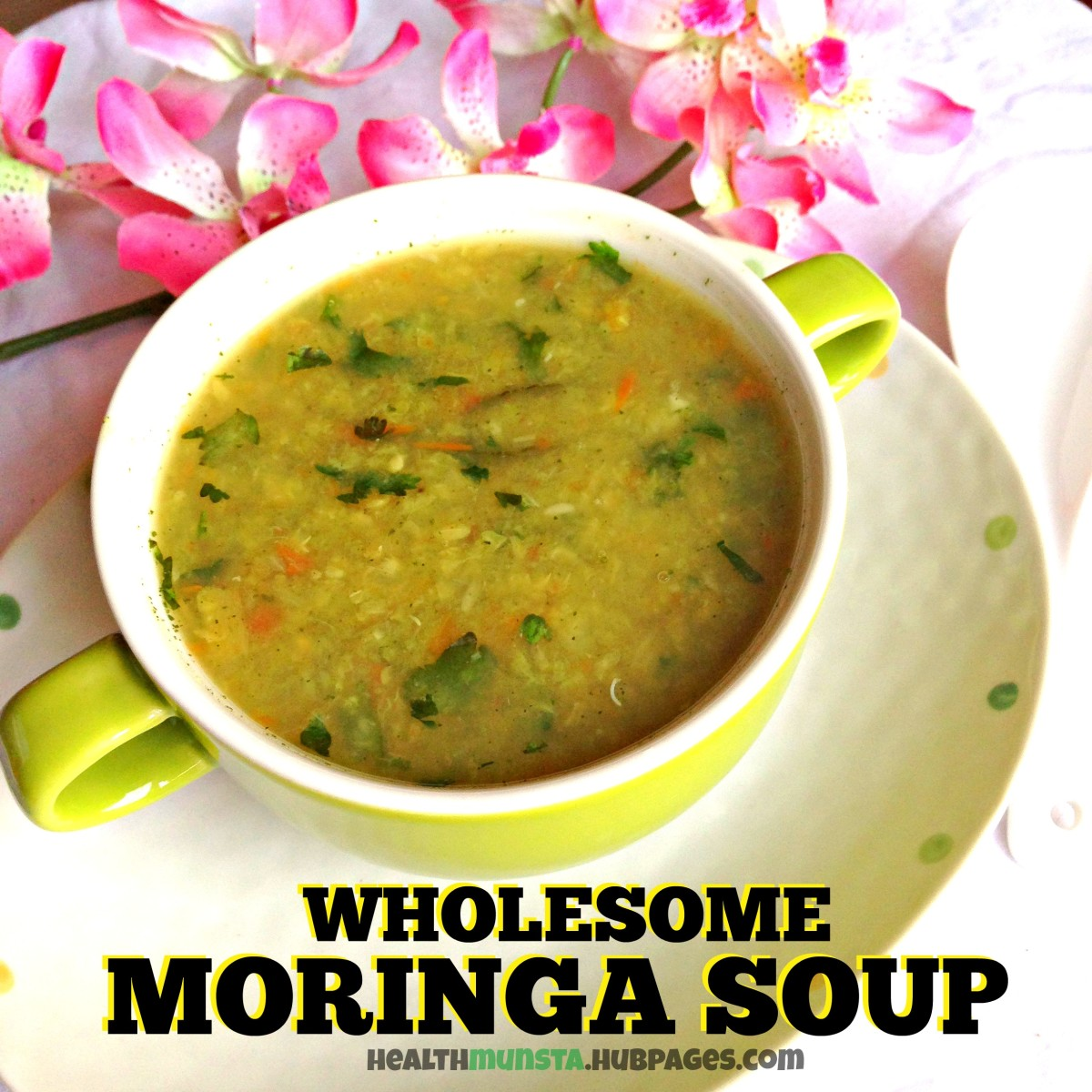 Wow! Your wholesome and nutritious moringa soup is ready!