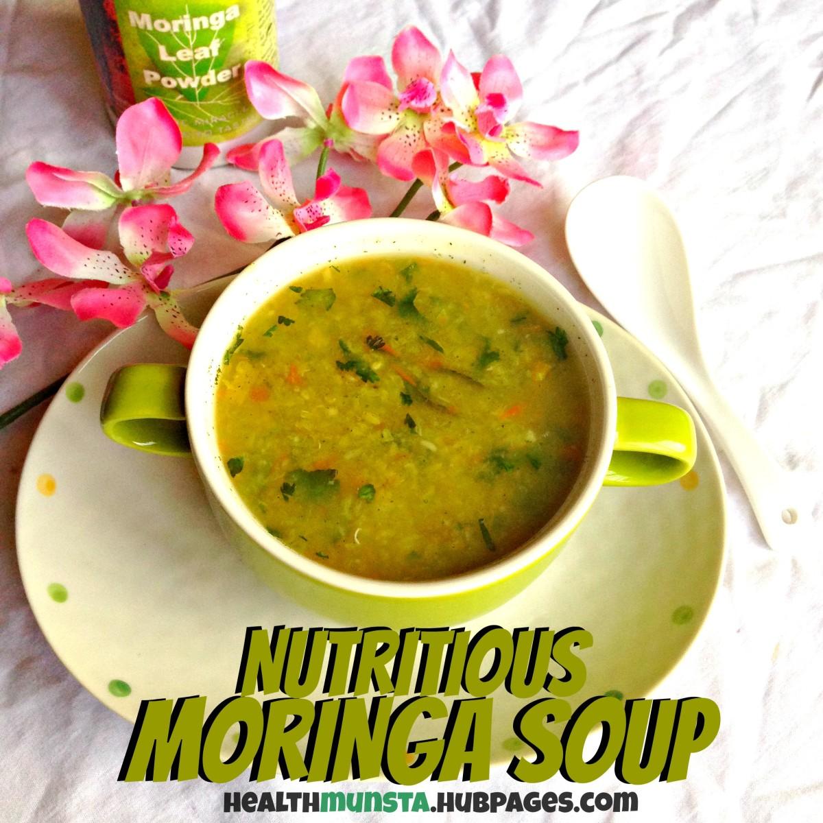 Nutritious Moringa Soup Recipe With A Creamy Lentil Base
