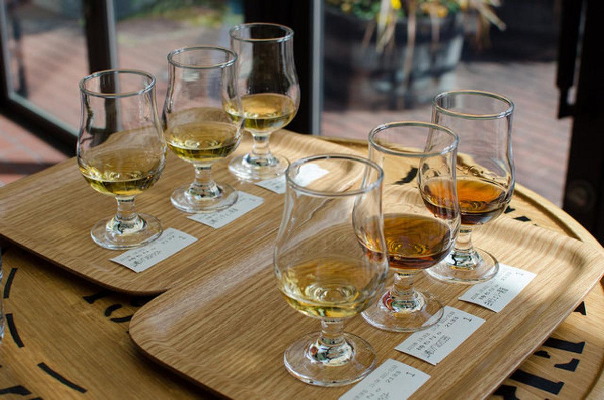 Suntory Whiskey Samples Japan