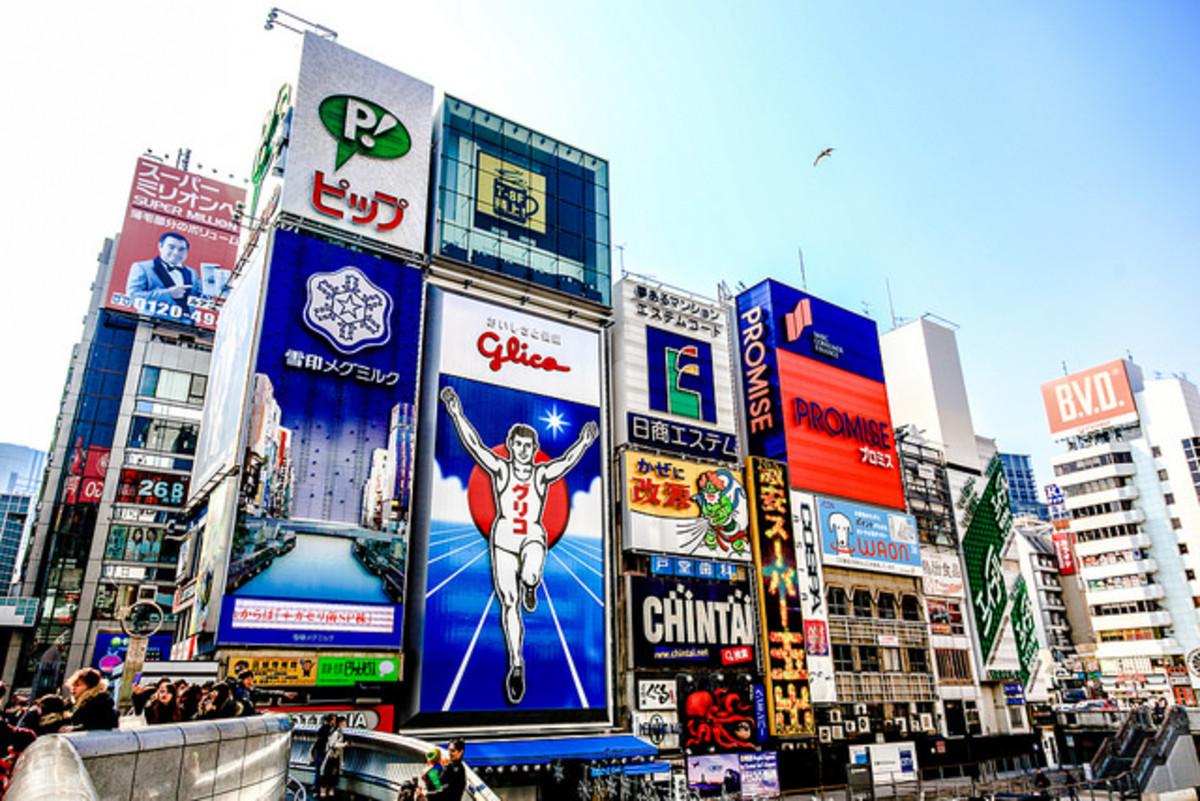 Glico Man Dotonbori Shinsaibashi Osaka Japan