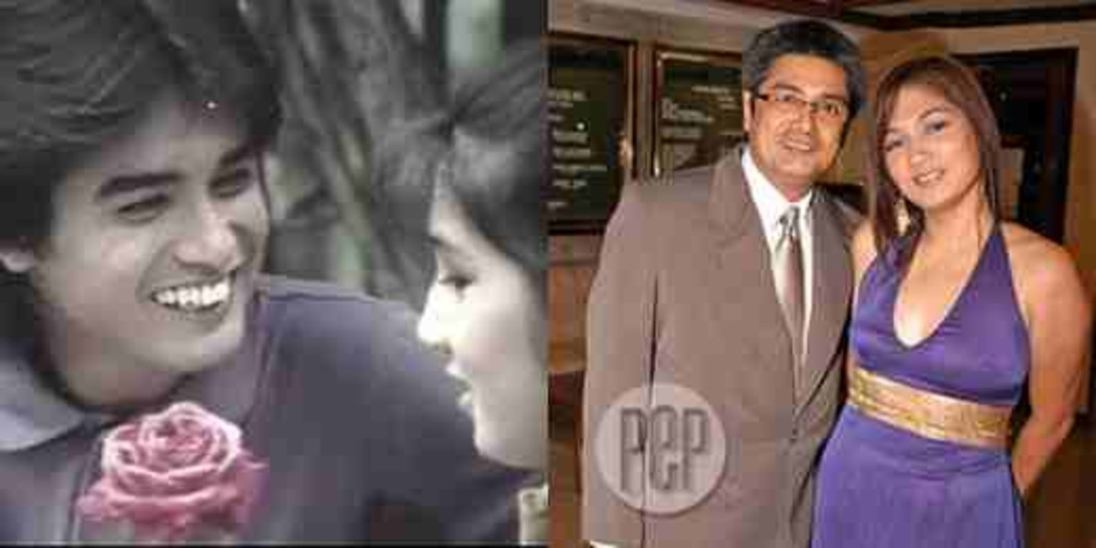 William Martinez with wife Yayo Aguila Then and Now