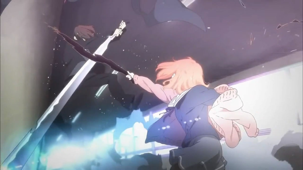 One of the fight scenes in the anime.