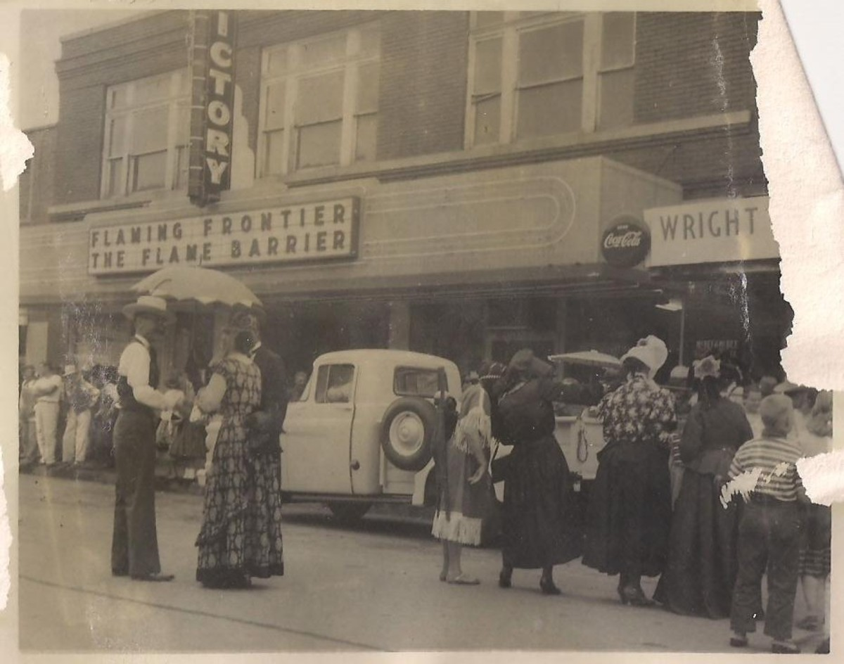 Photo taken in 1965.  This is how the Victory Theater in Poteau would have looked during President Kennedy's visit.