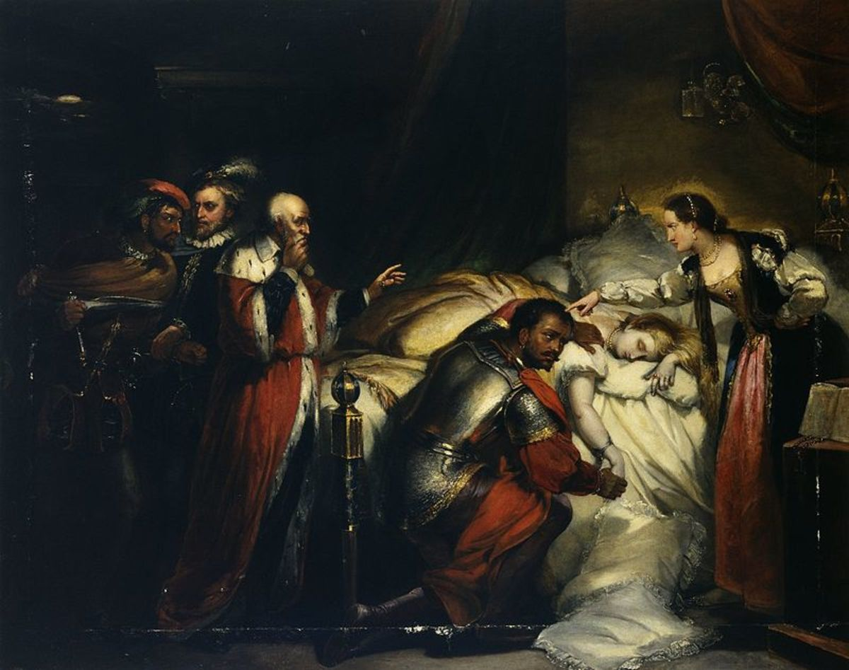 Painting by William Salter, Othello's Lamentation of His wife's death.