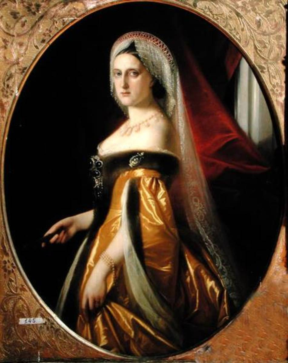 The Duke liked to show people a picture of his wife that he kept behind a curtain, like a prized animal head he hunted.