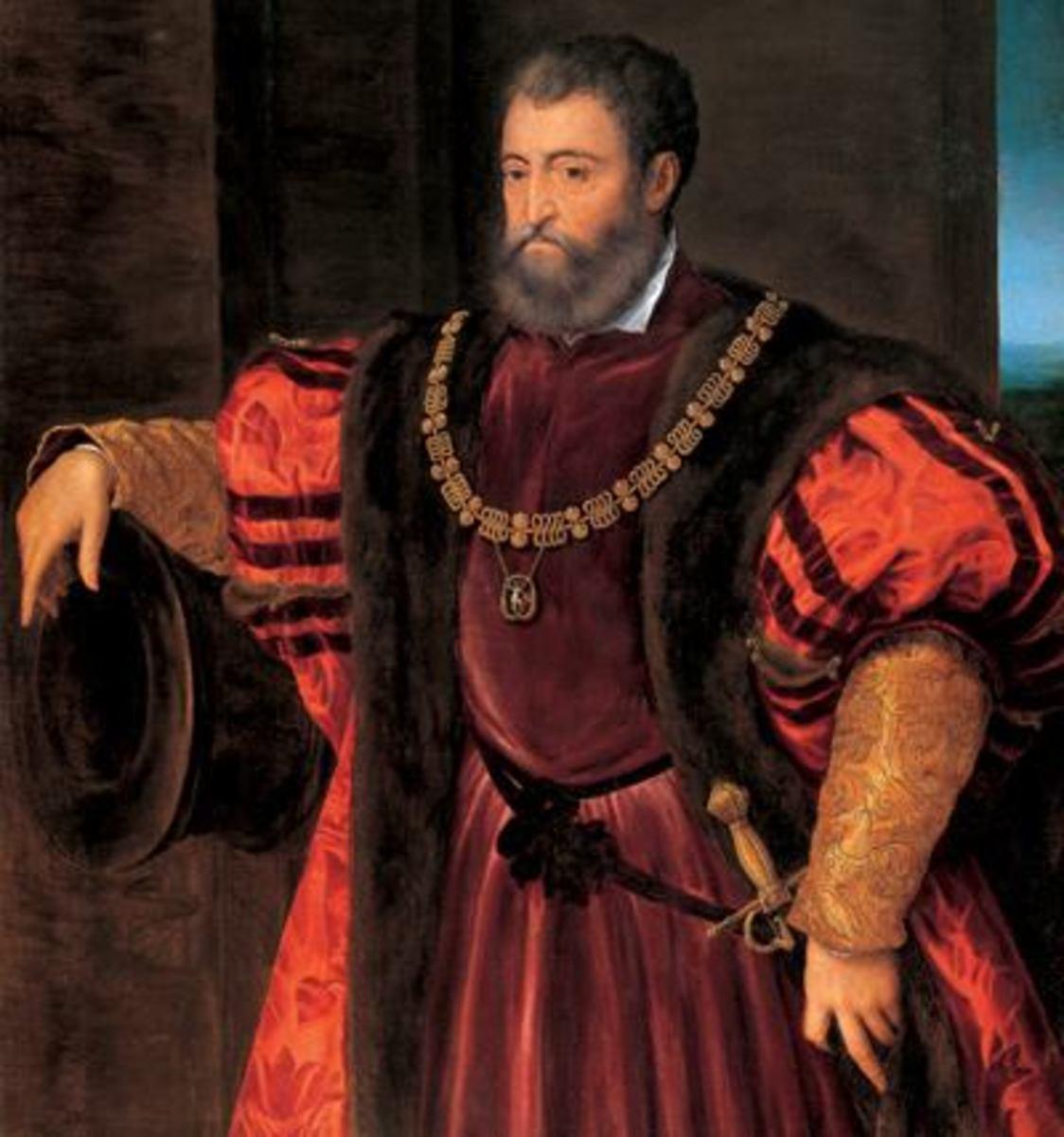 Alfonso I. d'Este, Duke of Ferrara, Old Money rich royalty.