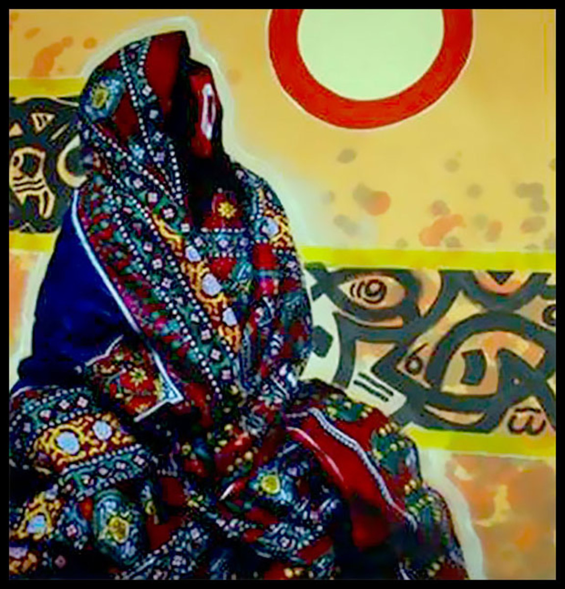 The Sana'ani Sitarah with its other accessories in arts in Yemen - Artist Aaminah Al-Nusairi