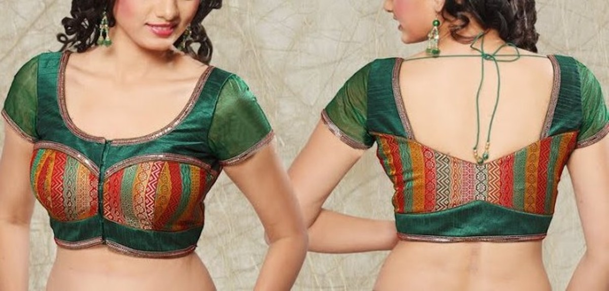 Multi colored brocade blouse for saree
