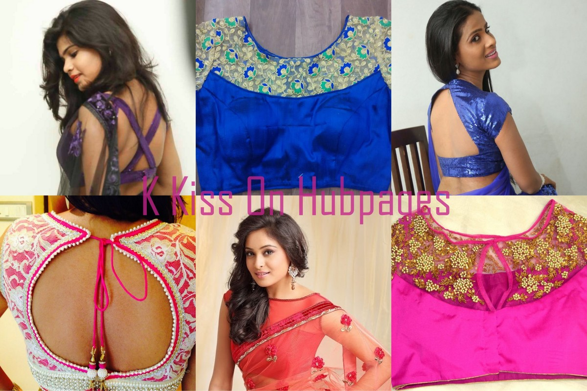 different types of blouse styles for various saris